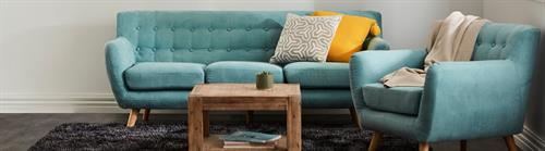 Mika Lounge Suite in Tiffany Blue