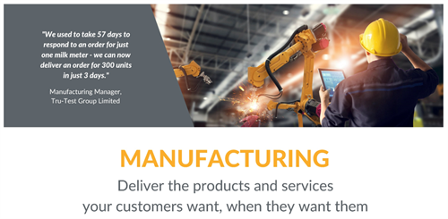 What We Do - Manufacturing