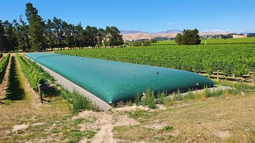 2 x 615m3 Water Storage for Vineyard in Blenheim