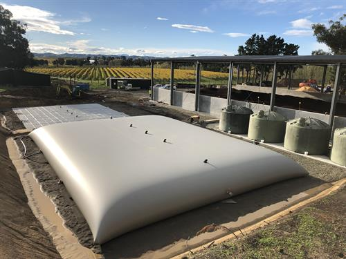 300m3 Grape Marc Leachate Storage for Winery south of Blenheim
