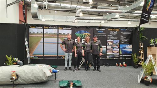 Team Pic at Local Trade Show recently, Andre, Jess, Jacky, Anton