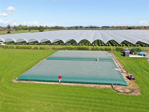 2 x 500m3 Water Storage at Berry Grower in Waikato