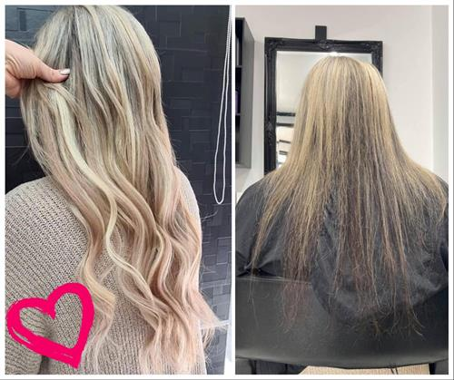 Incredible color and extensions - total transformation