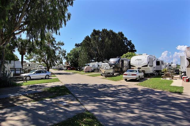 RV Park has several site types and sizes