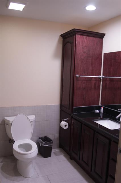 King suite room bathroom-non pet friendly