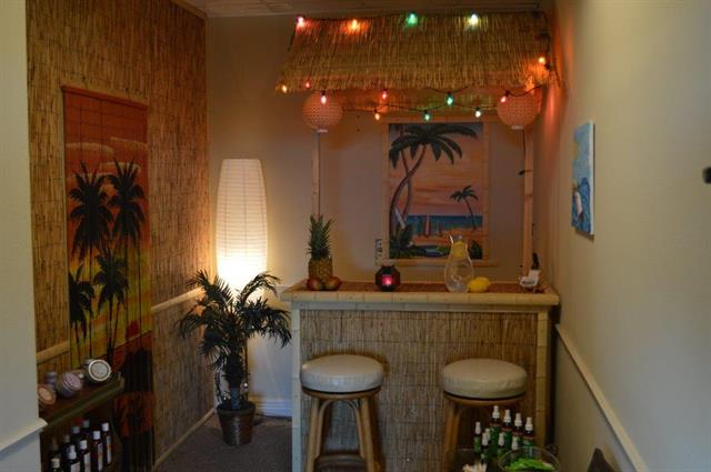 Tiki themed reception area