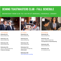 Deming Toastmasters Meeting