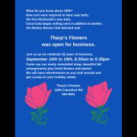 Tharps Flowers 65th Anniversary week!