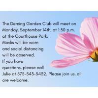 Deming Garden Club Meeting