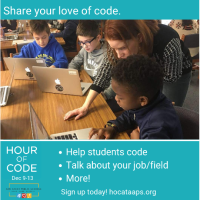 Inspire the next generation! Volunteer with the Hour of Code at AAPS