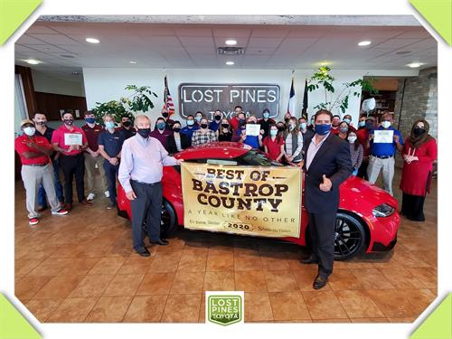 Winner of Best of Bastrop County for the 8th Time in Car Dealership Category