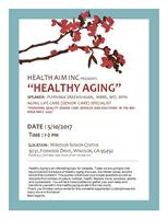 Join us as Purnima Sreenivasan speaks at the Windsor Senior Center!