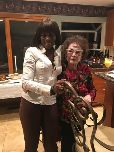 Celebrating Thanksgiving with one of our wonderful caregivers and adorable client