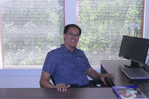 Allan in his office