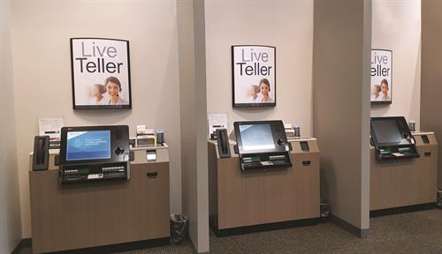 "We have a staff to answer questions and live ""Personal Teller Machines"" to serve your financial needs."