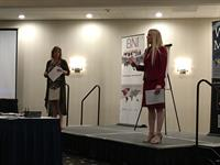 Dawn and Maile presenting together at networking leadership training.
