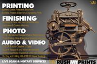 Printing, Photography & Video Services