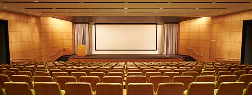 Tahoe Auditorium with a plug & play audio visual system and wireless internet
