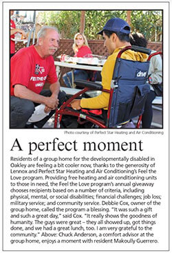 Prefect Star HVAC The Press Feel The Love 2019 Article