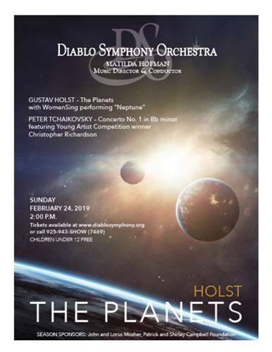 """Diablo Symphony Concert """"The Planets"""" Feb 24, 2019"""