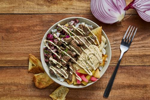 Beef Fatteh Bowl