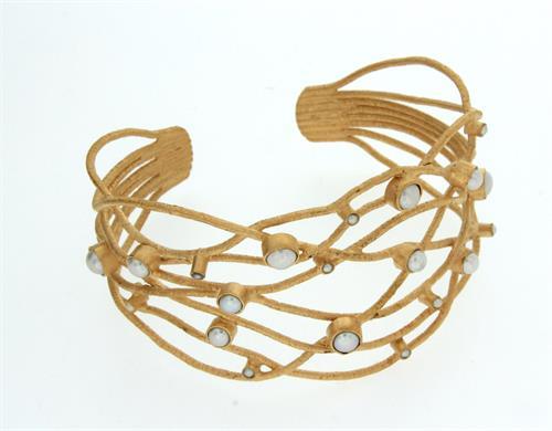 Bracelet - Sterling Silver, 22 carat gold overlay
