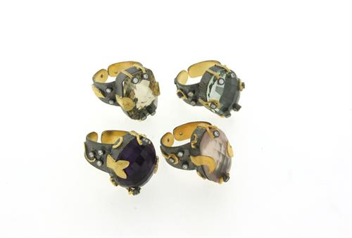 Rings - Sterling Silver, 22 carat gold overlay,