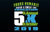 2019 Yours Humanly Break a Sweat for Education 5K Run & Walk and Kids Fun Run, October 5, Heather Farm Park