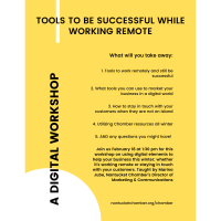 """Chamber Workshop on """"Tools to Be Successful While Working Remote"""""""