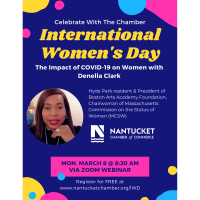 International Women's Day, Join the Chamber for a Chat with Denella Clark
