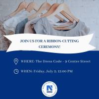 Ribbon Cutting for The Dress Code