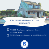 Ribbon Cutting for Nantucket Lighthouse School