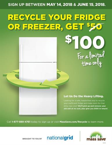 Sign up to Recycle your Fridge or Freezer - Get $100 (and we