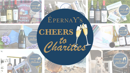 Join us the first Thursday of every month for our Cheers to Charities Wine Tasting