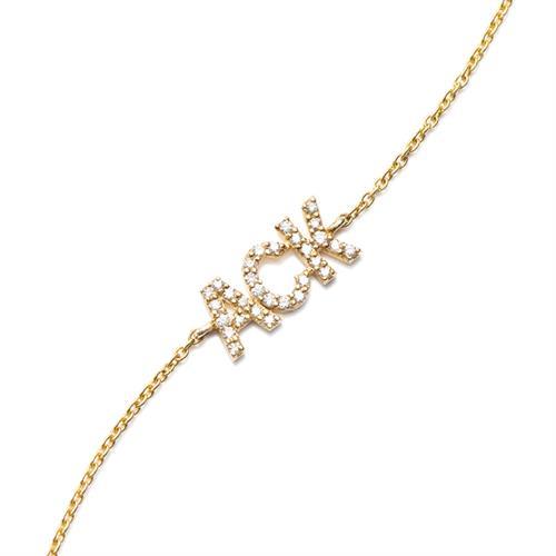 """Nantucket """"ACK"""" in Diamonds Bracelet"""