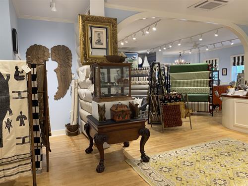 Over 300 fabrics in stock:  new, bespoke & vintage