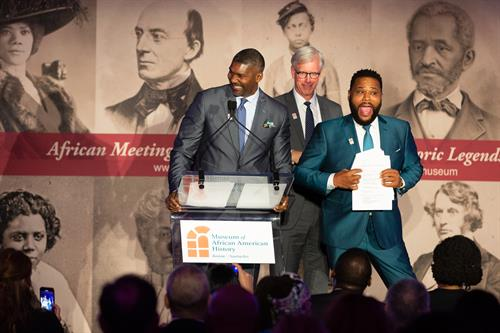 Anthony Anderson, State street, Liberty Mutual on stage for Museum of African American History