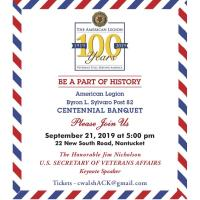 Nantucket's American Legion Post Celebrates Centennial with Three Events