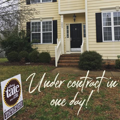 It's a great market to sell homes in!! This house sold in one day in January 2018!