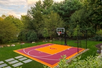 Multi-game courts and putting greens