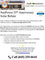 $1,035 SunPower Rebate Offer