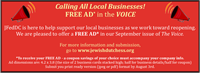 News Release: 7/16/2020 Complimentary ad to help support local businesses