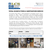 TOTAL DISINFECTION & SANITIZATION SERVICE