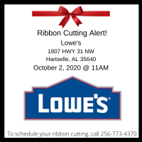Ribbon Cutting @ Lowe's of Hartselle
