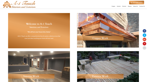 A-1 Touch Interiors and Exteriors Website