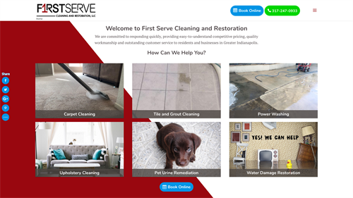 First Serve Cleaning and Restoration Website