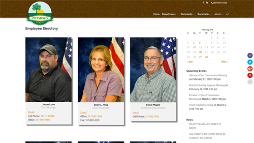 Town of Pittsboro Government Website