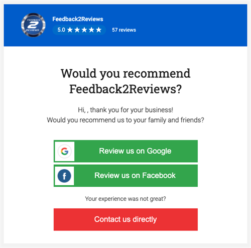 Would you recommend Feedback2Reviews?