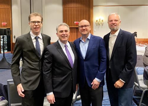 Edenred USA CEO, Ed Fleischmann; Greater Boston Chamber of Commerce President & CEO, Jim Rooney; ABCorp CEO, William Brown; ABCorp Vice President of Operations, Guy Broadhurst