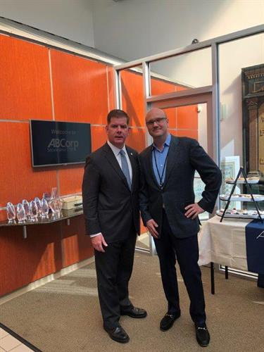 Boston Mayor Marty Walsh and ABCorp CEO William Brown